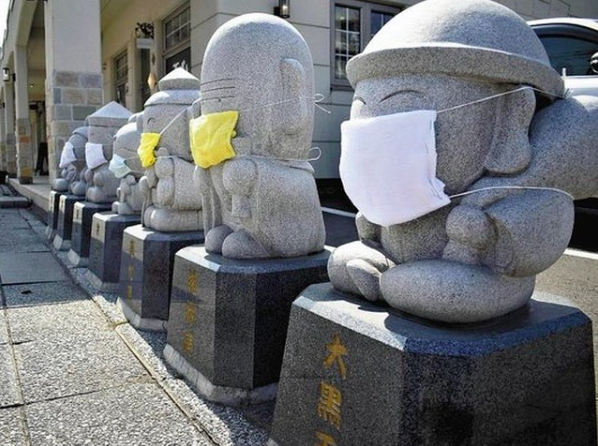 北海道七福神戴上手作口罩 祈願疫情收斂