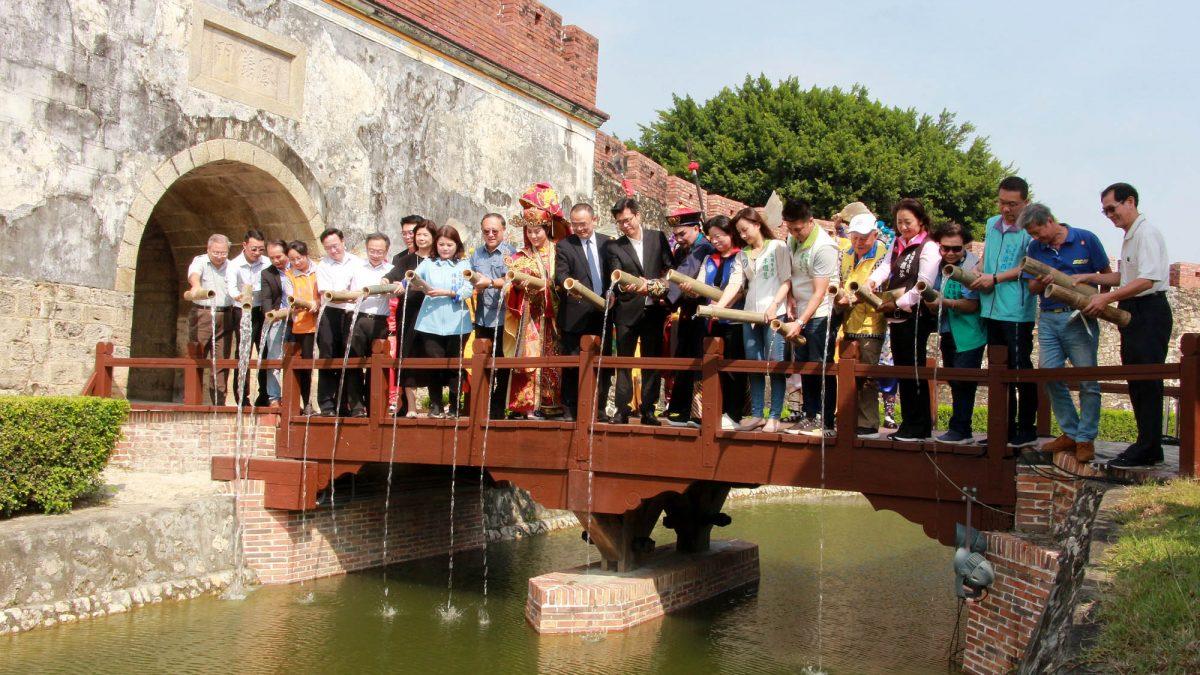 左營舊城護城河上改造通水重生