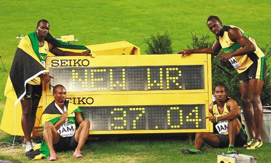 400接力 牙買加37秒04破世界紀錄