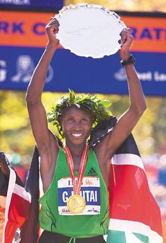 紐約馬拉松/肯亞穆泰封王 跑出大會紀錄