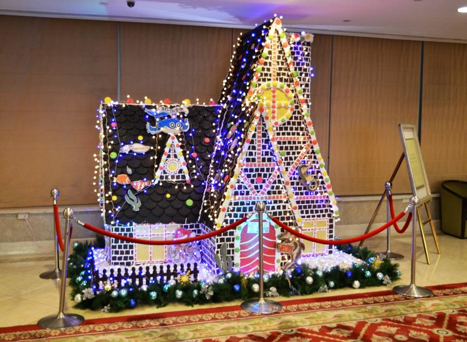 高雄金典飯店推出全國最大薑餅屋迎接聖誕節