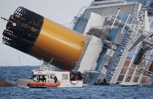 歌詩達協和號觸礁翻覆5死
