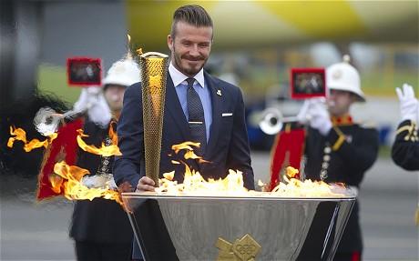 奧運聖火抵達英倫