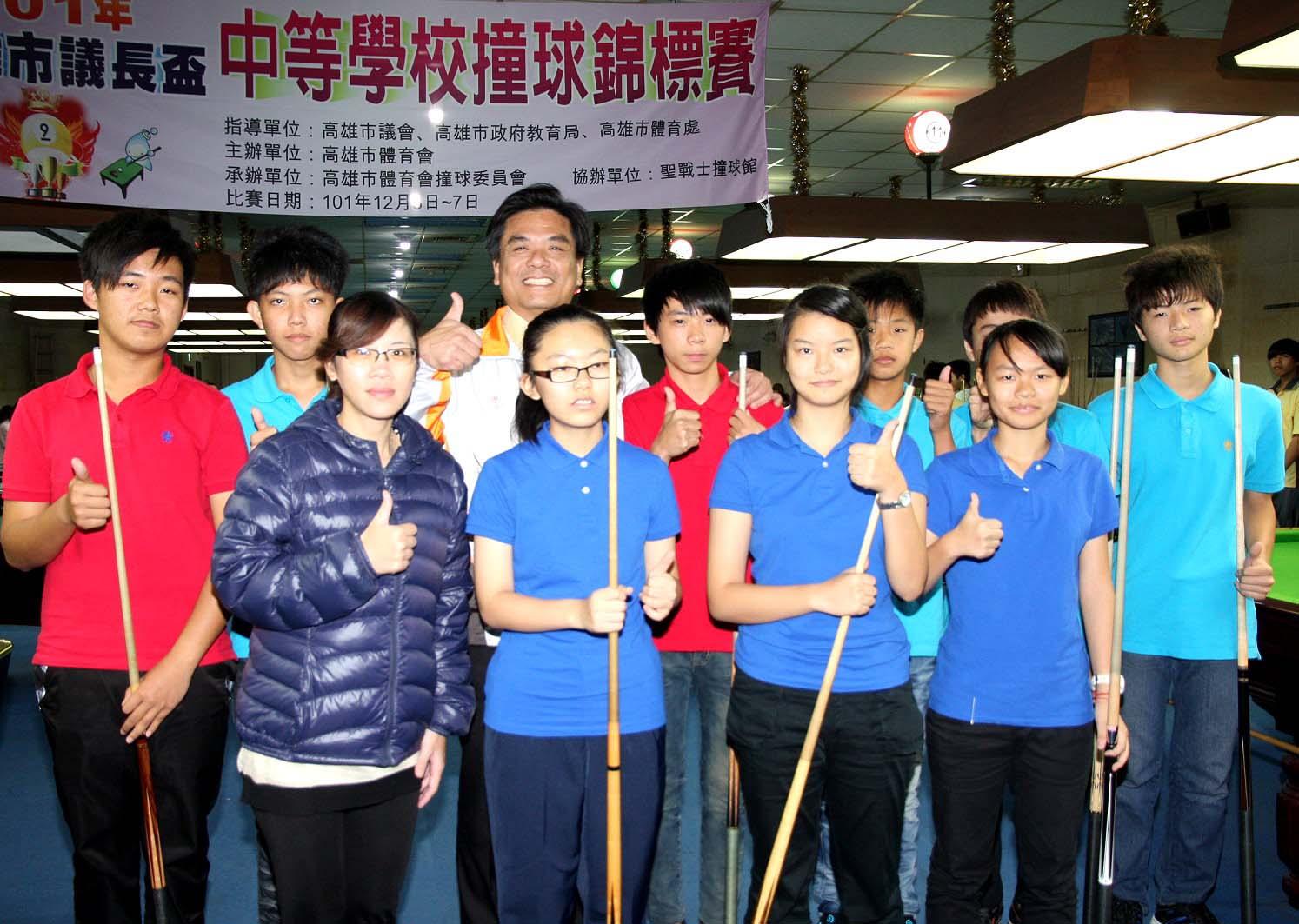 高雄市議長盃 海青工商高中男、女子9號球團體雙冠