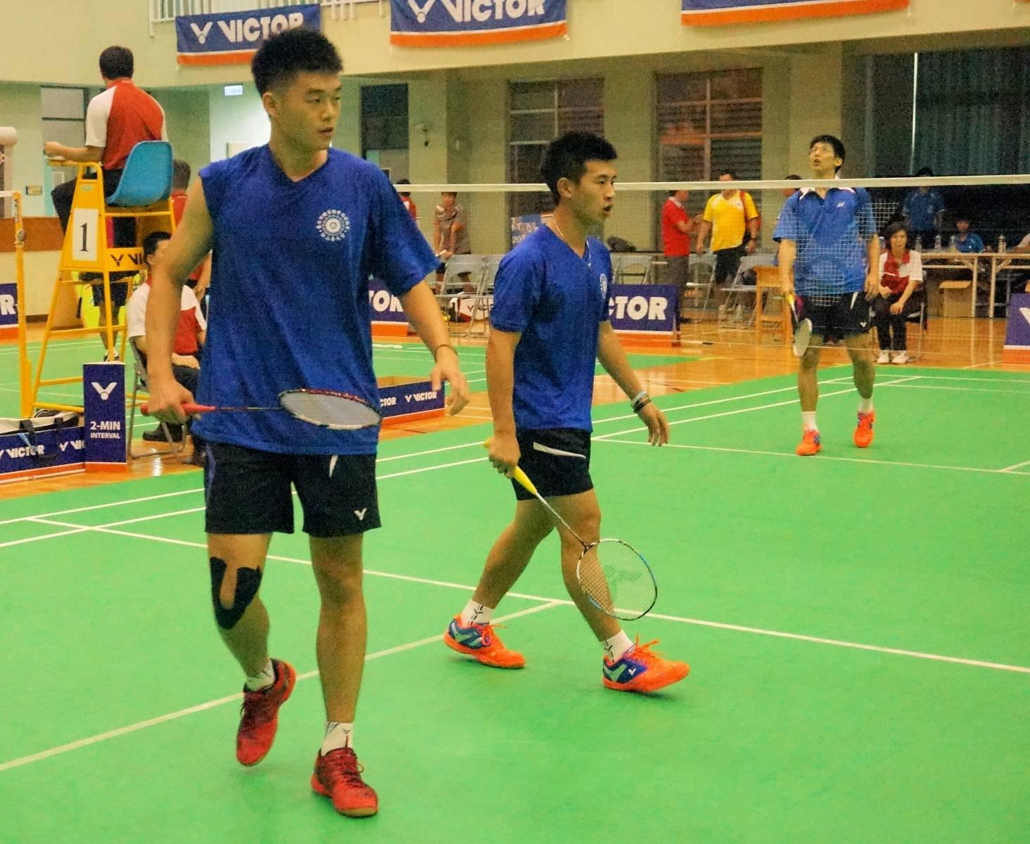 全運羽球男子團體雙打夥伴鬩牆 台中市、台北市樂闖決賽