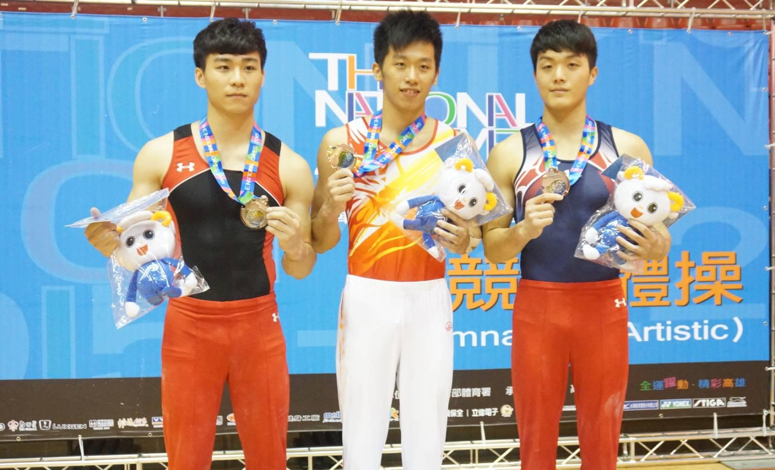 104年全運會競技體操 桃園市李智凱拿下男子全能金牌