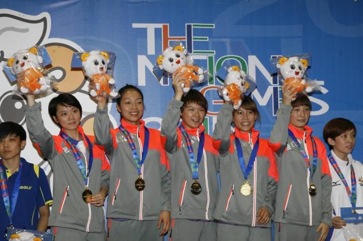 國手變裹手 104全運會新北市仍奪女團桌球金牌
