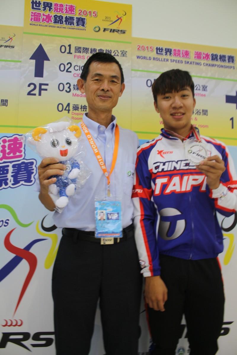 高雄溜冰小將李宥陞 奪得世錦賽競速溜冰銀牌