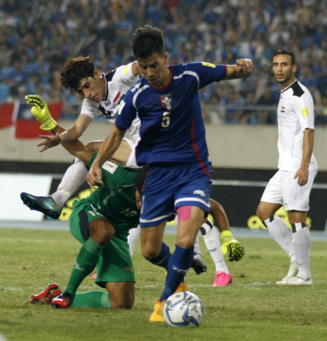 2018世界盃亞洲區資格賽第二輪 中華隊0比2輸伊拉克1