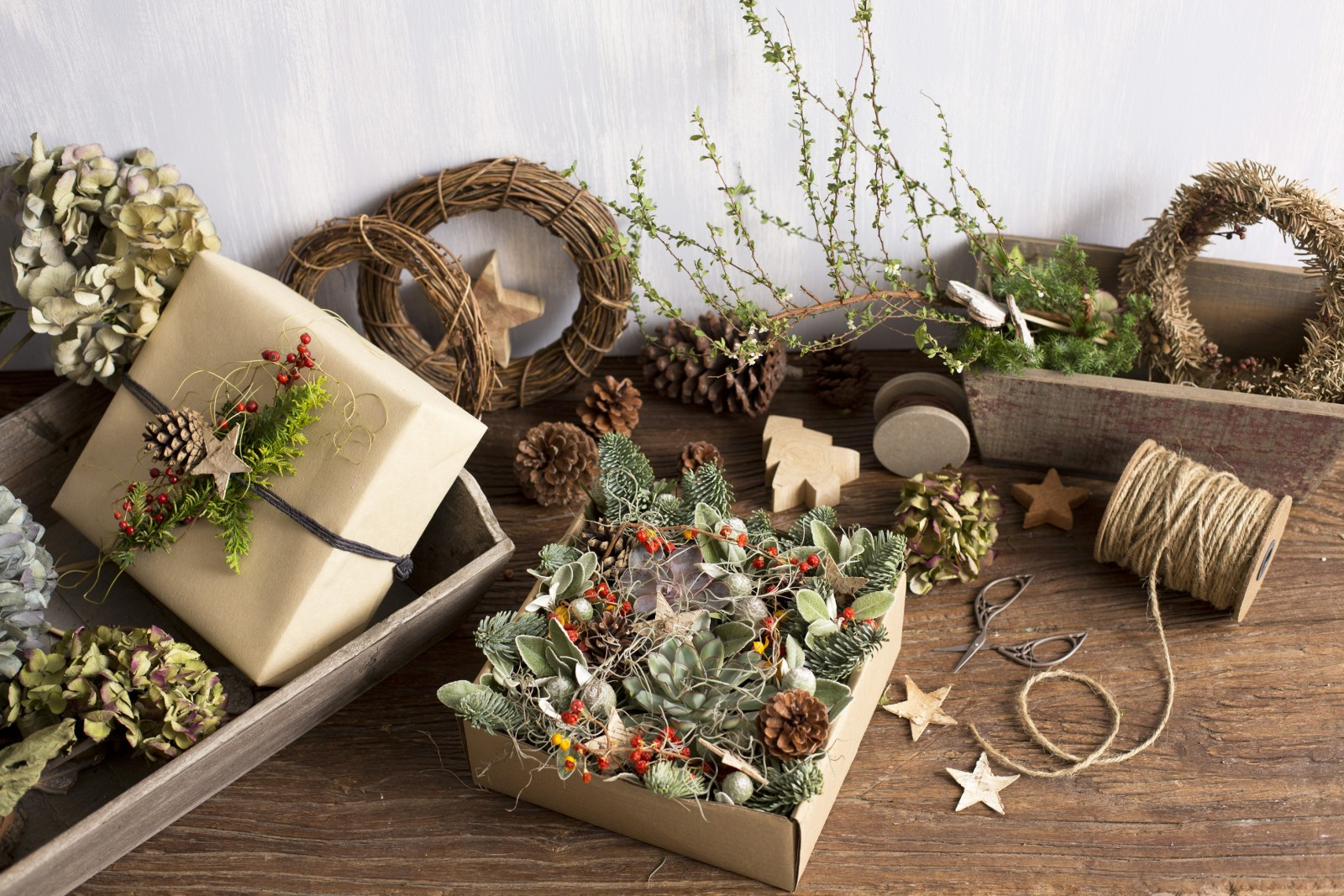 溫暖手作風格 b. FLEURISTE 2015 聖誕花盒