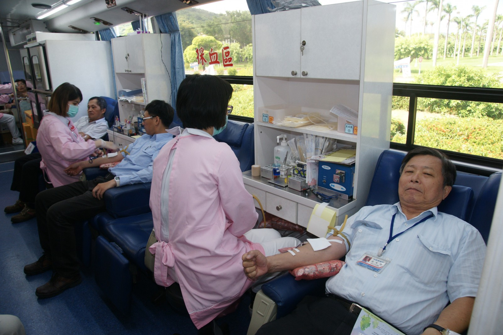 解決社會血荒 中油煉製事業部挽袖捐血