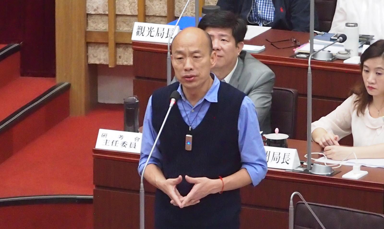 爭取味全龍落腳高雄 韓國瑜議會答詢說這4個字