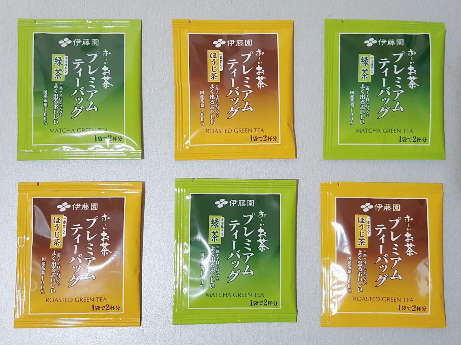 日本知名飲料公司伊藤園,盒裝茶包開箱-俳句欣賞。