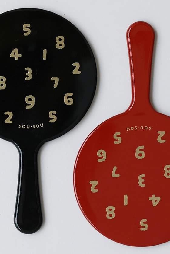 2019年SOUSOU期間限定滿額禮,經典數字和風漆器手持鏡