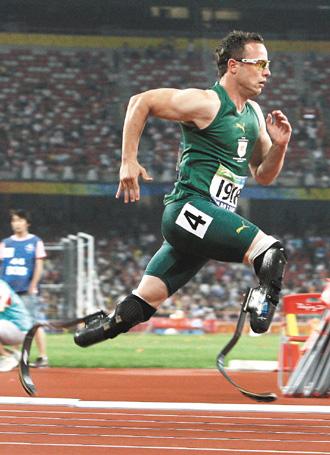 南非「無腿飛人」 穿義肢跑向倫敦奧運